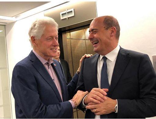 """Zingaretti incontra Clinton a New York: """"Battaglia comune contro le destre"""""""