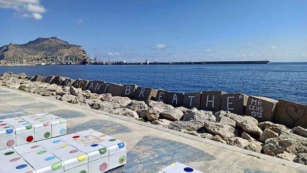 Napoli, il murale di Jorit dedicato a Floyd