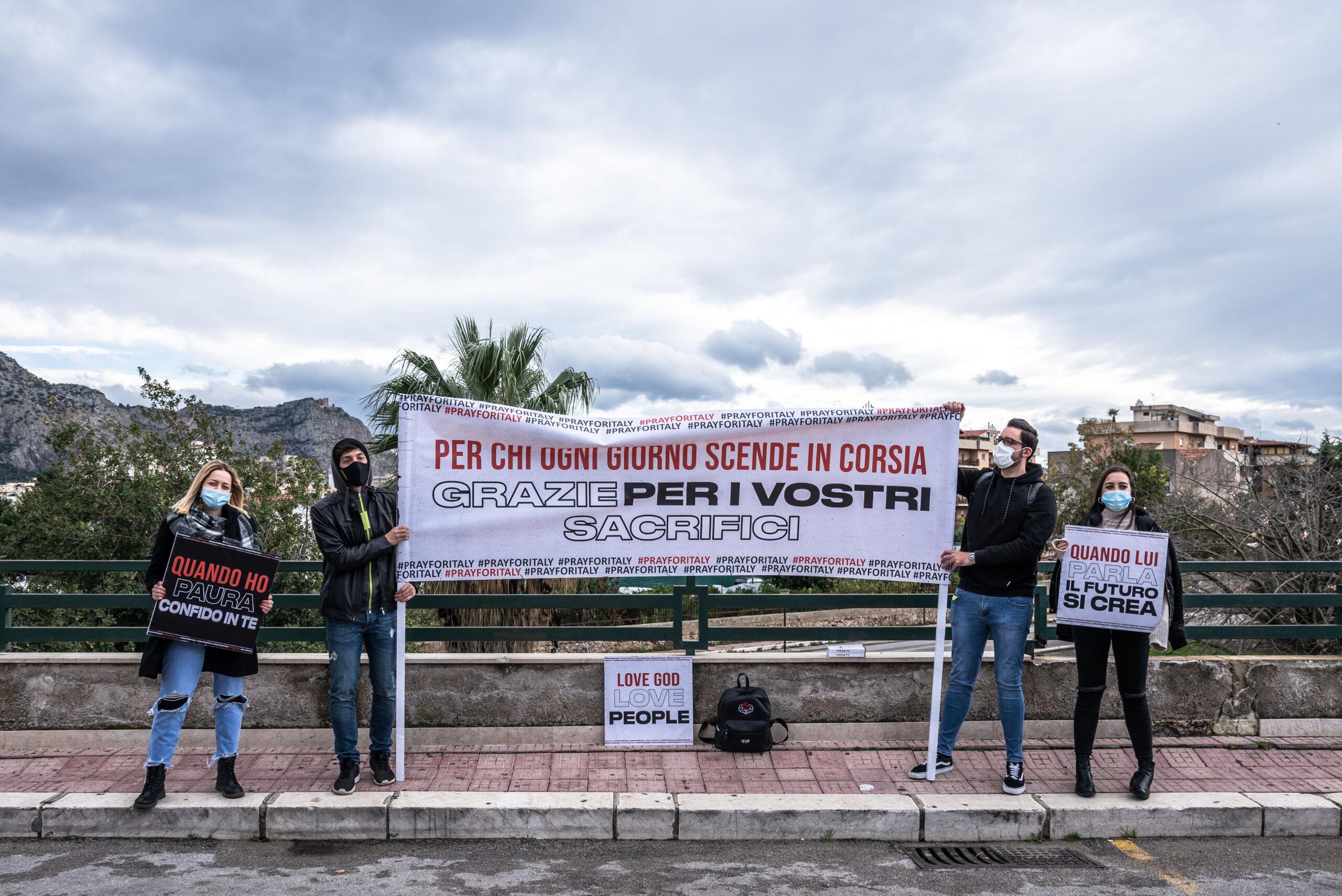 """Lotta al Covid-19: #ISENZANOME negli ospedali di Palermo. I medici: """"Un gesto che ammiriamo"""""""