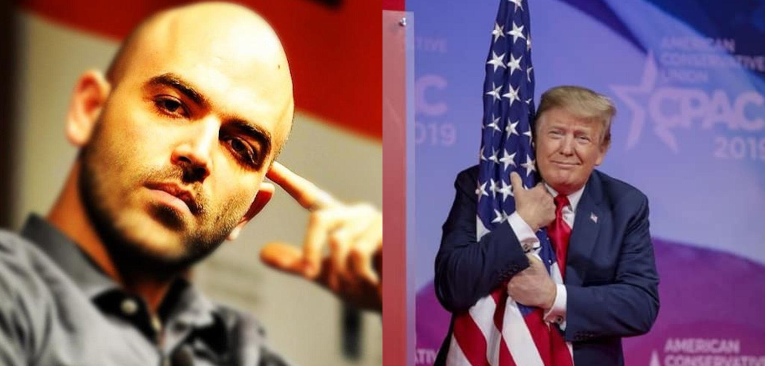 """Trump sospeso a tempo inderminato da Twitter. Saviano: """"Perchè tenere aperti gli account di Bolsonaro o Beppe Grillo?"""""""