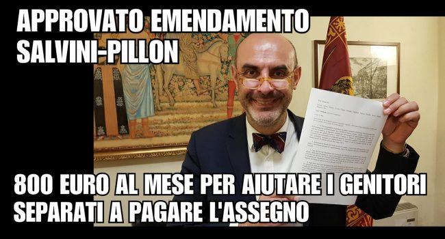 Bonus da 800 euro per genitori separati, approvato l'emendamento Pillon-Salvini