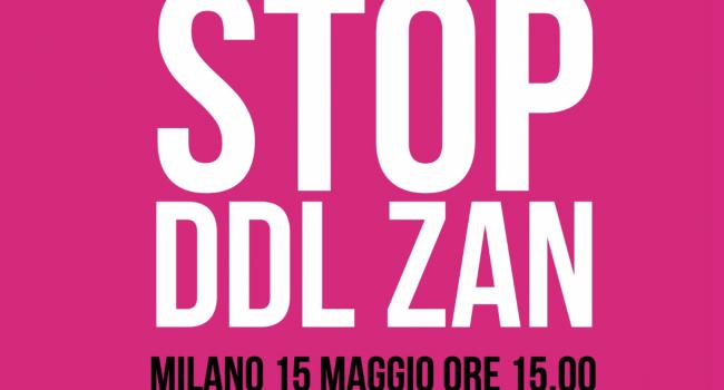 Contro il Ddl Zan Pro Vita & Famiglia in piazza sabato 15 maggio a Milano