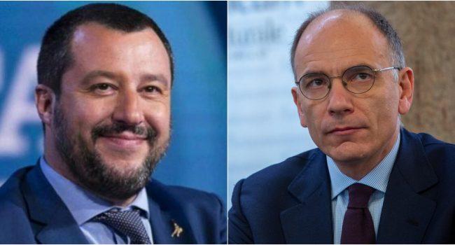 """Ddl Zan, Salvini a Letta: """"Scelga il dialogo"""". La replica del leader del Pd: """"Non dialoghiamo con gli omofobi"""""""