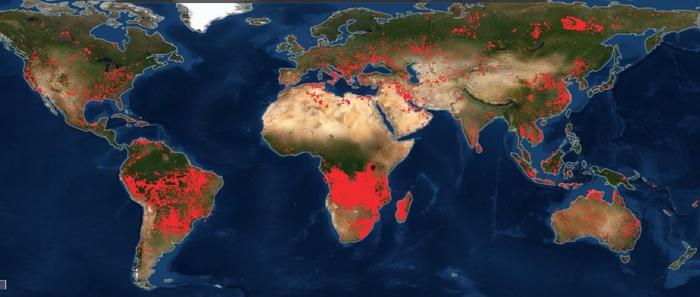 La Terra devastata dagli incendi: la mappa dei roghi visti dallo Spazio